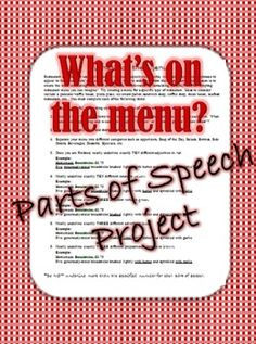 This is one of my favorite real-life application projects that can be completed individually by students or in partners.  The Create Your Own Menu project allows students to use their creativity to think of a type of restaurant they would open, name it, and create a menu for it all while practicing specific and vivid nouns, verbs, adjectives, adverbs, and prepositional phrases.  This lesson includes directions handout, student planning guide, and rubric.  Created by Pride and Prepositions.