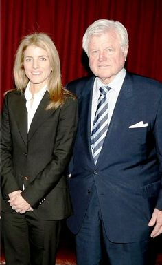 """Edward Moore """"Ted"""" Kennedy (February 22, 1932 – August 25, 2009) With Caroline Kennedy .... Caroline Bouvier Kennedy[2][3] (born November 27, 1957)      .    ❤❤❤❤      http://en.wikipedia.org/wiki/Ted_Kennedy    http://en.wikipedia.org/wiki/Caroline_Kennedy"""