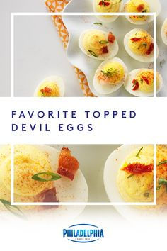 This Easter, spice things up at your get-together with this devilishly delicious recipe for our Favorite Topped Deviled Eggs. #ItMustBeThePhilly