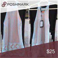 NWT MissGuided blue high neck crochet dress size 4 NWT MissGuided blue high neck crochet dress size 4 Missguided Dresses Midi