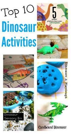 Fun dinosaur activities :: simple dinosaur crafts :: dinosaur party ideas