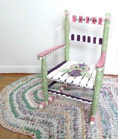 Personalized Child Rocking Chair Custom Child Rocker by MollieBurd