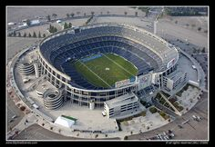 Qualcomm Stadium, home of the SD Chargers