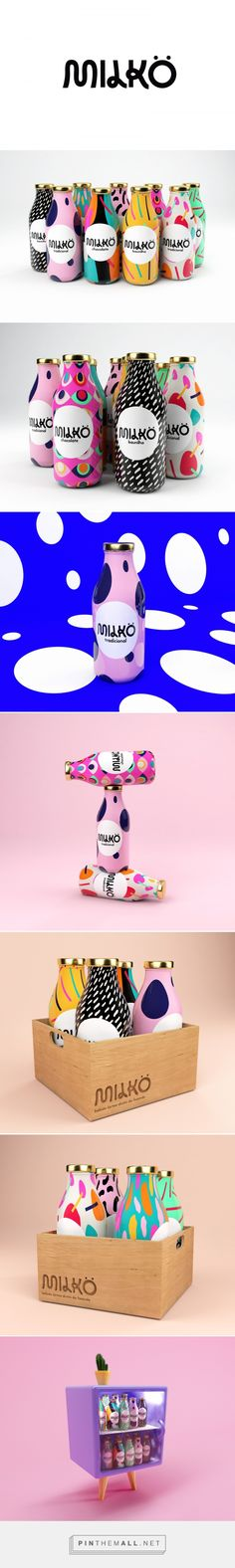 Milkö Milk Packaging by Giovani Flores Fivestar Branding Agency – Design and Branding Agency & Curated Inspiration Gallery Milk Packaging, Food Packaging Design, Bottle Packaging, Pretty Packaging, Packaging Design Inspiration, Brand Packaging, Graphic Design Inspiration, Design Web, Game Design