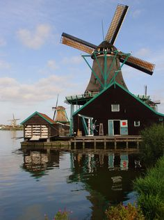 **Zaanse Schans, Noord-Holland This litle replica town is a must to see.
