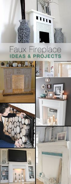 Faux Fireplace Ideas and Projects • A great round-up with lots of Ideas and Tutorials!