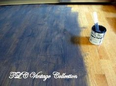 150 wood laminate floor rescue into hottest look, chalk paint, flooring, A wash of Graphite over the floor
