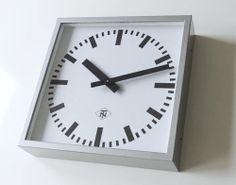 Square TELENORMA TN Industrial Factory Clock Modernist Office Wall Clock Bauhaus   eBay