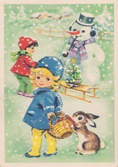 Vintage New Year's Postcard 1960s