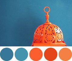 paleta-12 Colour Pallette, Colour Schemes, Color Combos, Textures Patterns, Color Patterns, Azul Pantone, Color Terracota, Estilo Tropical, Orange Interior