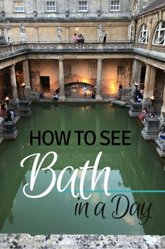 Unforgettable things to do on a Bath day trip. Visit the Roman Baths and Bath Abbey, go shopping in the Guildhall Market and learn about fashion in the Fashion Museum. But first do a free walking tour of Bath. Cool Places To Visit, Places To Go, Bath Uk, England And Scotland, Ireland Travel, Culture Travel, Walking Tour, Day Trips, Travel Inspiration