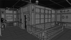 ArtStation - The Order 1886: Black Wall Yards offices - wireframes, Nestor Carpintero