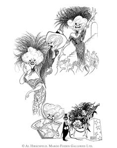 AL HIRSCHFELD'S portraits of CAROL CHANNING presented in a composite