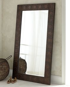 """The Uttermost Co """"Adel"""" Floor Mirror - Horchow"""