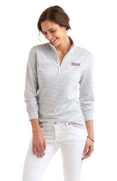 Take the edge off cool nights with this soft, comfortable Vineyard Vines Stripe Jacquard Shep Shirt in Gray Heather. New Outfits, Fashion Outfits, Women's Fashion, Vineyard Vines Women, What To Wear, Pullover, My Style, Sweatshirts, Casual