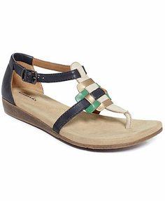 Clarks Women's Qwin Adonia Flat Sandals - Sandals - Shoes - Macy's - $80