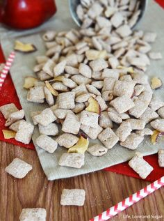 use a dry cake or muffin mix for this Caramel Apple Puppy Chow snack mix!