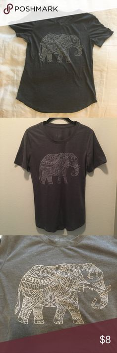 Elephant Tee Short sleeved elephant tee Tops Tees - Short Sleeve
