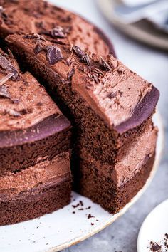 Vegan gluten-free chocolate cake #vegan #chocolate #cake #healthy #dessert #recipe
