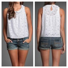 Adorable lace tank!