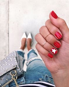 60 Must Try Nail Designs for Short Nails Short Acrylic Nails; Chic and fun Nails; Short Nail Designs, Simple Nail Designs, Cute Nails, Pretty Nails, Star Nails, Star Nail Art, Nails 2018, Stylish Nails, Gel Manicure
