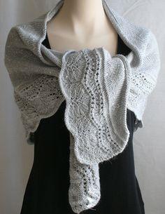 Knitting PDF Pattern Shawl (large version) Wrap Knit Pattern Scarf Grey Wool Silk Alpaca. $5.00, via Etsy.