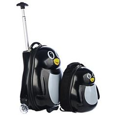 Shop for Trendykid Travel Buddies Percy Penguin Hardside Kids Carry On Luggage Set. Get free delivery On EVERYTHING* Overstock - Your Online Kids' Luggage & Bags Shop! Kids Luggage Sets, Cute Luggage, Carry On Luggage, Luggage Bags, Trendy Kids, Designer Backpacks, Travel Accessories, Penguins, Shopping Bag