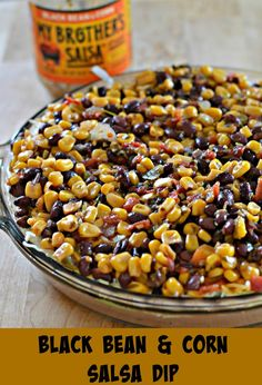 Black Bean and Corn Salsa Dip - this would be great to serve during the Super Bowl (or any other football or sporting event on tv)!