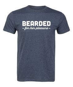 Heather Blue 'Bearded for Her Pleasure' Tee - Men's Regular