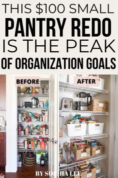 who would have guessed that pantry organization would make me so dang happy?! Love this and cant wait to replicate it in my own house! First Apartment Checklist, First Apartment Essentials, Apartment Hacks, Apartment Kitchen, Apartment Living, Moving House Tips, Moving Tips, Small Pantry Organization, Pantry Ideas