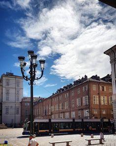 #Torino #Turin #piazzaSanGiovanni #seemycity #igerstorino #nofilter #blue #sky #clouds