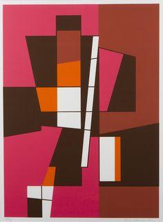 Sam Vanni, 1985, litografia, 62x47 cm, edition 45/75 - Hagelstam A141