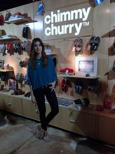 Agustina Cordova en nuestro stand de Feria Puro Diseño