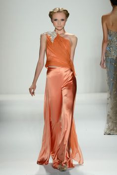 A model walks the runway at the Venexiana Spring 2013 fashion show during Mercedes-Benz Fashion Week at The Studio, Lincoln Center on September 8, 2012 in New York City.