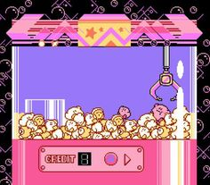 Kirby's Adventure: UFO Catcher/Claw-Machine Bonus Stage.