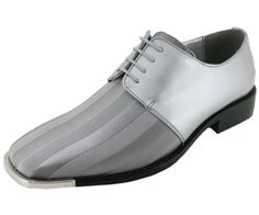 Mens pink and white dress shoes