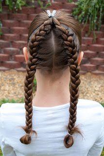 Princess Piggies: french braids