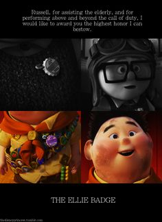 One of the most touching Disney/Pixar films.