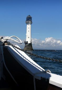 BELL ROCK Lighthouse, off the coast of Angus, Scotland,