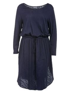 Cotton dress with drawstring in Dark-Blue designed by Manon Baptiste to find in Category Dresses at navabi.de