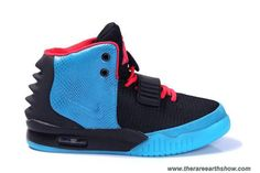 Black-Blue/Solar Red Shoes Women Shoes Nike Air Yeezy II Outlet