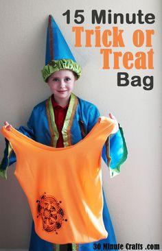 15 Minute Trick or Treat Bag