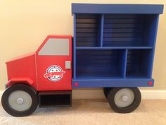 Truck bookshelf for the Tennessee Trucking Foundation by Brian Hulett Woodworking  hulettwoodworking@gmail.com