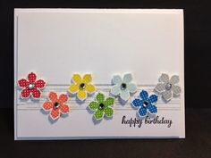 A Petite Petals Gorgeous Grunge Birthday Birthday Card Stampin' Up! Rubber Stamping Handmade Cards Stamp a Stack