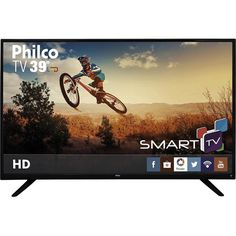 "Smart TV LED 39"" Philco PH39U20DSGW HD com Conversor Digital 3 HDMI 1 USB Wi-Fi << R$ 117044 >>"