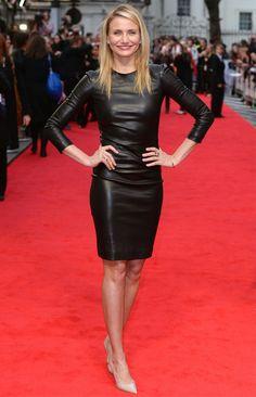 Cameron-Diaz-Leather-Dress-Red-Carpet