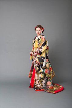 kimono 着物 色打掛  #japan #kimono #wedding #結婚式 #着物 #和装 #色打掛