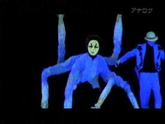 Expression dance in black light