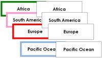 Globe, Continent & Ocean Labels