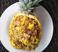 Healthy Diners, Sushi Bowl, Caribbean Recipes, Hawaiian Pizza, Rice Recipes, Fried Rice, Love Food, Slow Cooker, Side Dishes